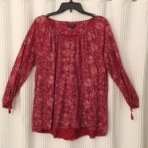 Luck Brand Red Top